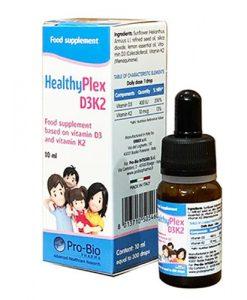 HealthyPlex D3-K2 bổ sung vitamin cho bé lọ 10ml
