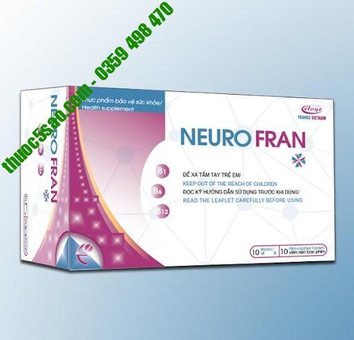 Neuro Fran hỗ trợ bổ sung vitamin và khoáng chất hộp 60 viên
