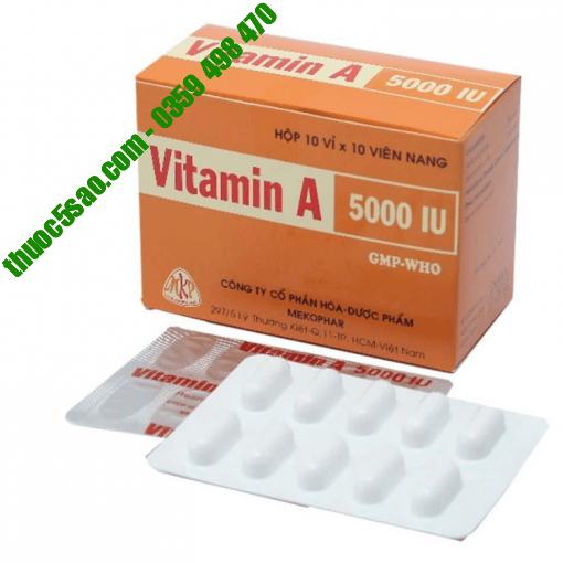 Vitamin A 5000 IU nâng cao miễn dịch cơ thể