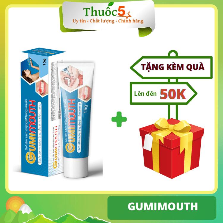 [GIÁ GỐC] Gumimouth làm sạch miệng, nướu chân răng tuýp 15g