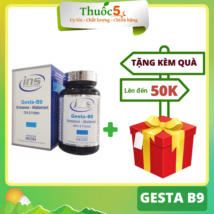 [GIÁ GỐC] Gesta B9 bổ sung omega, DHA cho bà bầu hộp 60 viên