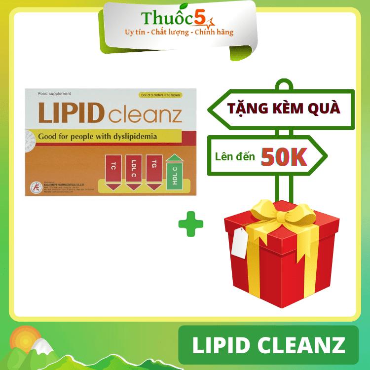 [GIÁ GỐC] Lipid cleanz hỗ trợ giảm cholesterol máu hộp 30 viên