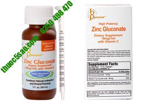 [GIÁ GỐC] Zinc Gluconate cải thiện tình trạng biếng ăn lọ 30ml