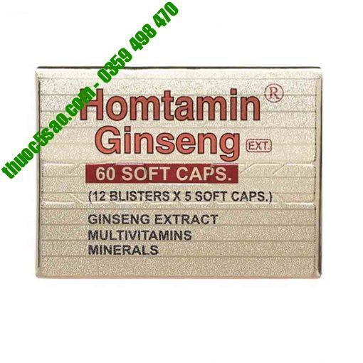 [GIÁ GỐC] Homtamin Ginseng bổ sung và bảo vệ sức khỏe hộp 60 viên